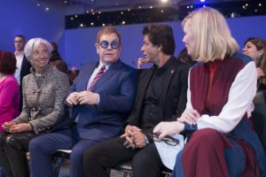From Left: Christine Lagarde, Elton John, Shah Rukh Khan, Cate Blanchett