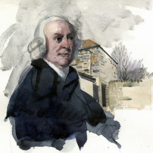 A watercolour portrait of the economist Adam Smith 1723 -1790. http://www.wilfreeborn.co.uk/?p=3532