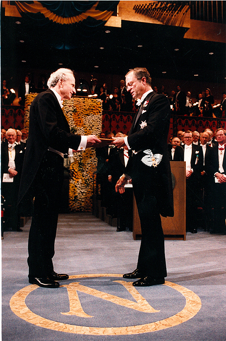Gary Becker receives his Nobel Prize in 1992.