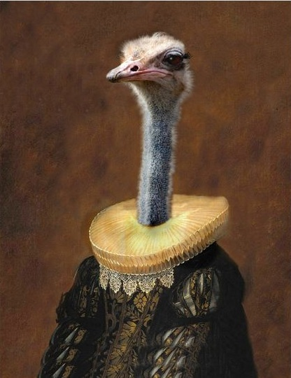 The Ostrich Effect | Painting by Angela Rossi