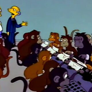 Infinite Monkey Theorem - Simpsons